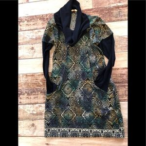 Aryeh cowl neck dress size L